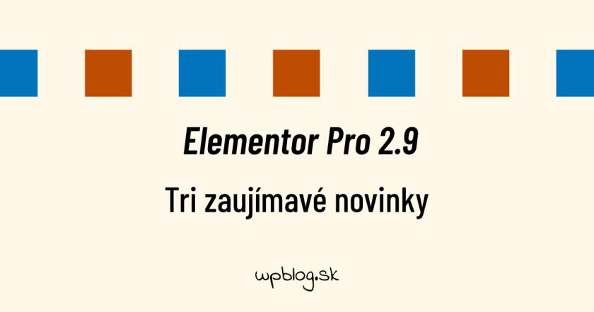 Elementor Pro 2.9