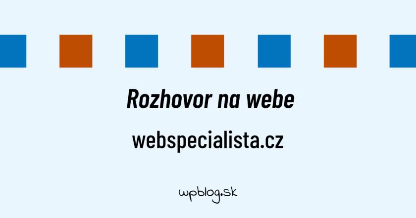 Rozhovor na webe webspecialista.cz